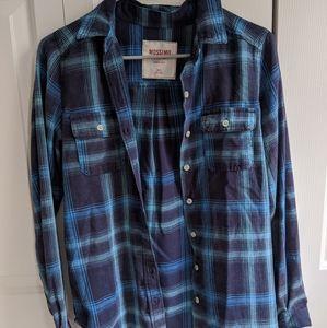 blue plaid flannel
